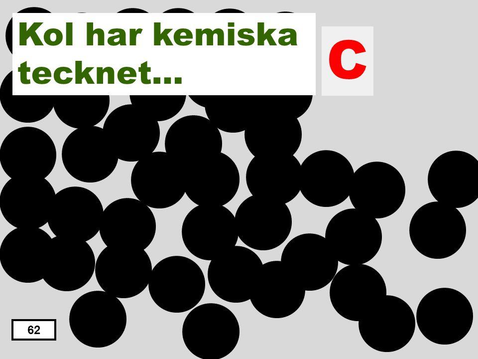 C H N O S Kol har kemiska tecknet…