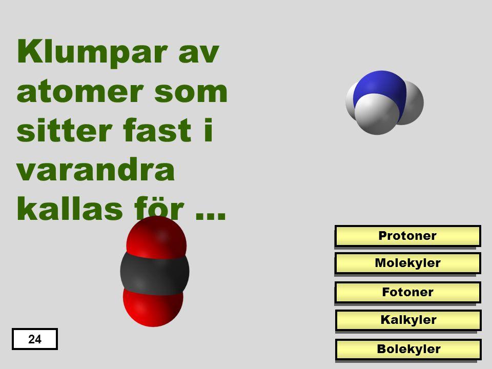 Denna metall kan bli grönaktig när den blir angripen av vatten och luft eller andra ämnen. 29 Koppar 24