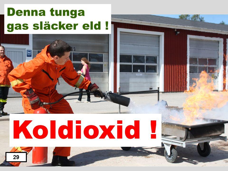 Koloxid Syre Koldioxid Väte Gasol 28 Denna tunga gas släcker eld !