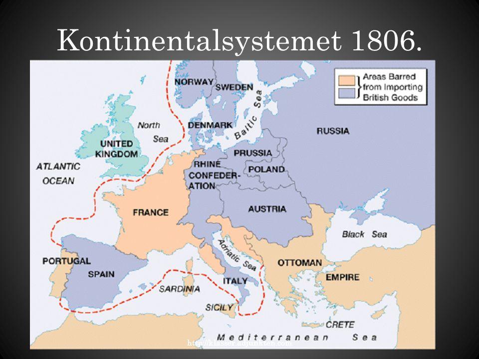 Kontinentalsystemet 1806. http://klasser.adjunkten.com