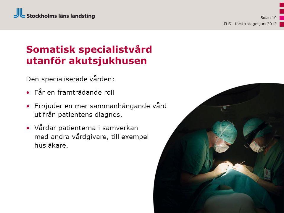 Den specialiserade vården: •Får en framträdande roll •Erbjuder en mer sammanhängande vård utifrån patientens diagnos.
