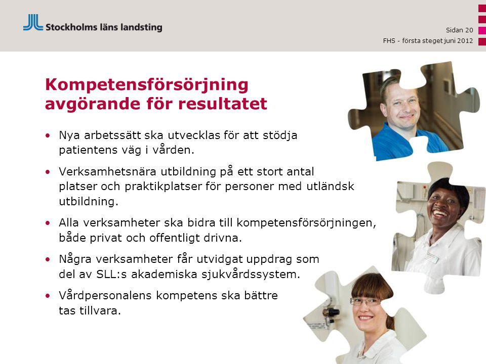 •Nya arbetssätt ska utvecklas för att stödja patientens väg i vården. •Verksamhetsnära utbildning på ett stort antal platser och praktikplatser för pe