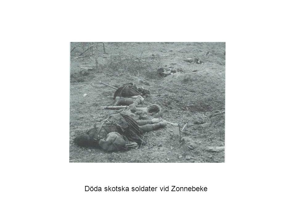 Döda skotska soldater vid Zonnebeke