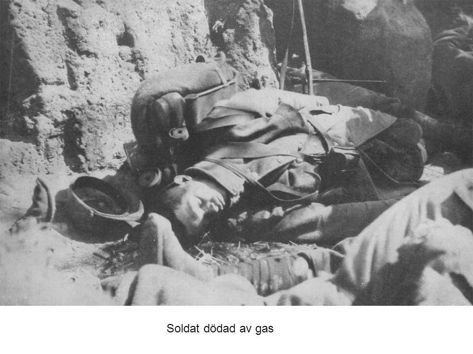 Soldat dödad av gas