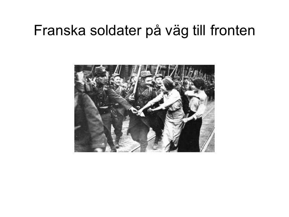Franska soldater på väg till fronten