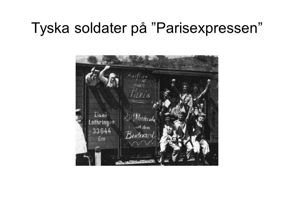 """Tyska soldater på """"Parisexpressen"""""""