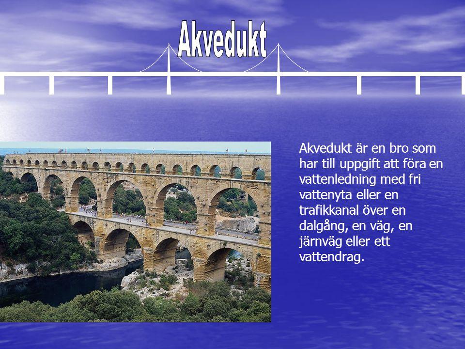 Akvedukt är en bro som har till uppgift att föra en vattenledning med fri vattenyta eller en trafikkanal över en dalgång, en väg, en järnväg eller ett