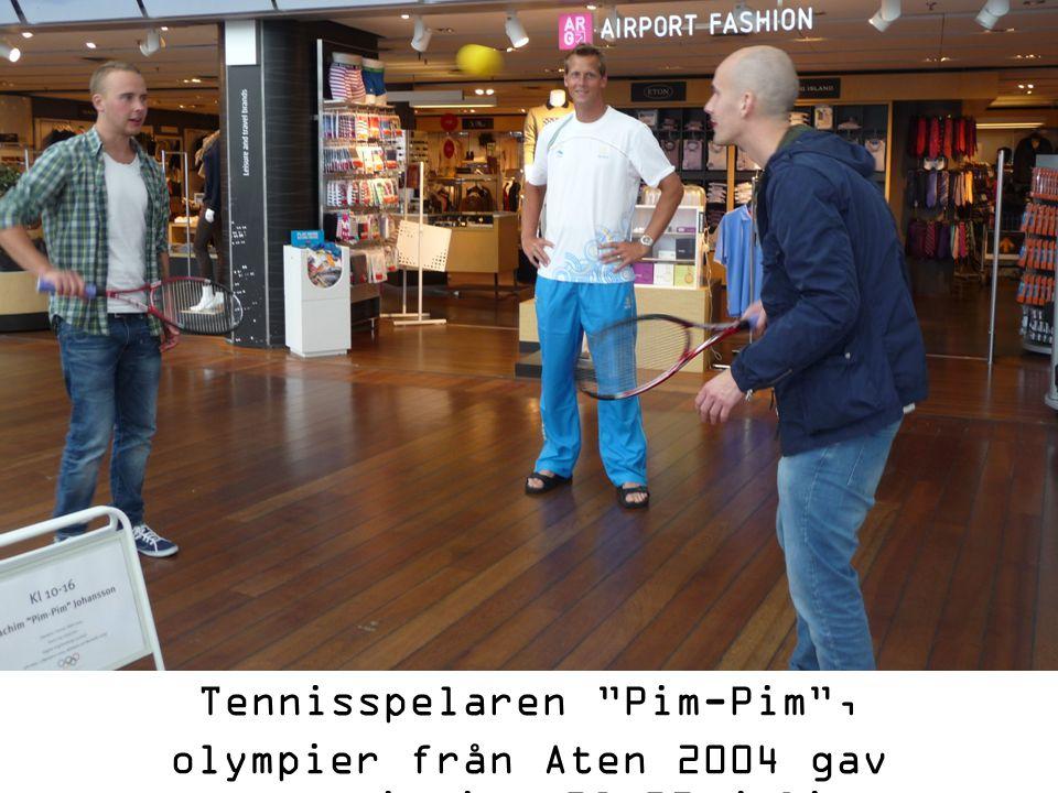 Tennisspelaren Pim-Pim , olympier från Aten 2004 gav tennistips 28-29 juli