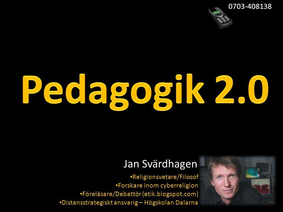 • Religionsvetare/Filosof • Forskare inom cyberreligion • Föreläsare/Debattör (etik.blogspot.com) • Distansstrategiskt ansvarig – Högskolan Dalarna Jan Svärdhagen 0703-408138