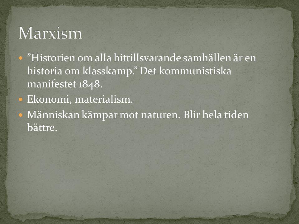 """ """"Historien om alla hittillsvarande samhällen är en historia om klasskamp."""" Det kommunistiska manifestet 1848.  Ekonomi, materialism.  Människan kä"""