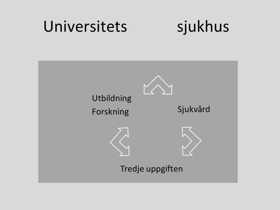 Universitets sjukhus Utbildning Forskning Tredje uppgiften Sjukvård