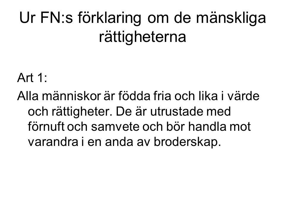 Ur Regeringsformen RF 1 Kap.
