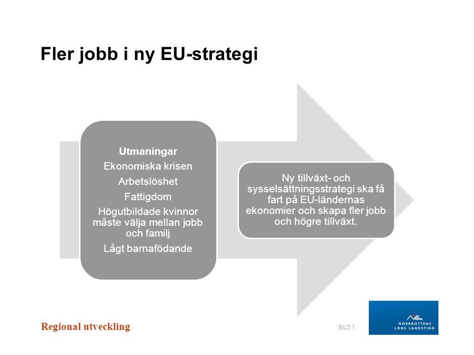 Regional utveckling BILD 2 Hur ska EU skapa smart tillväxt.