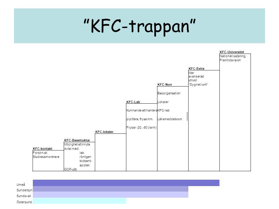 """""""KFC-trappan"""" KFC-Universitet Nationell satsning, Framtidsvision KFC-Extra Mer avanserad utrust KFC-Norr"""