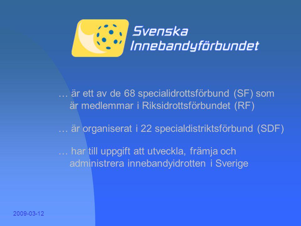 Sveriges största tävlingsidrotter Avser antal personer (mellan 7 och 70 år) i 1000-tal Källa: SCB, 2007