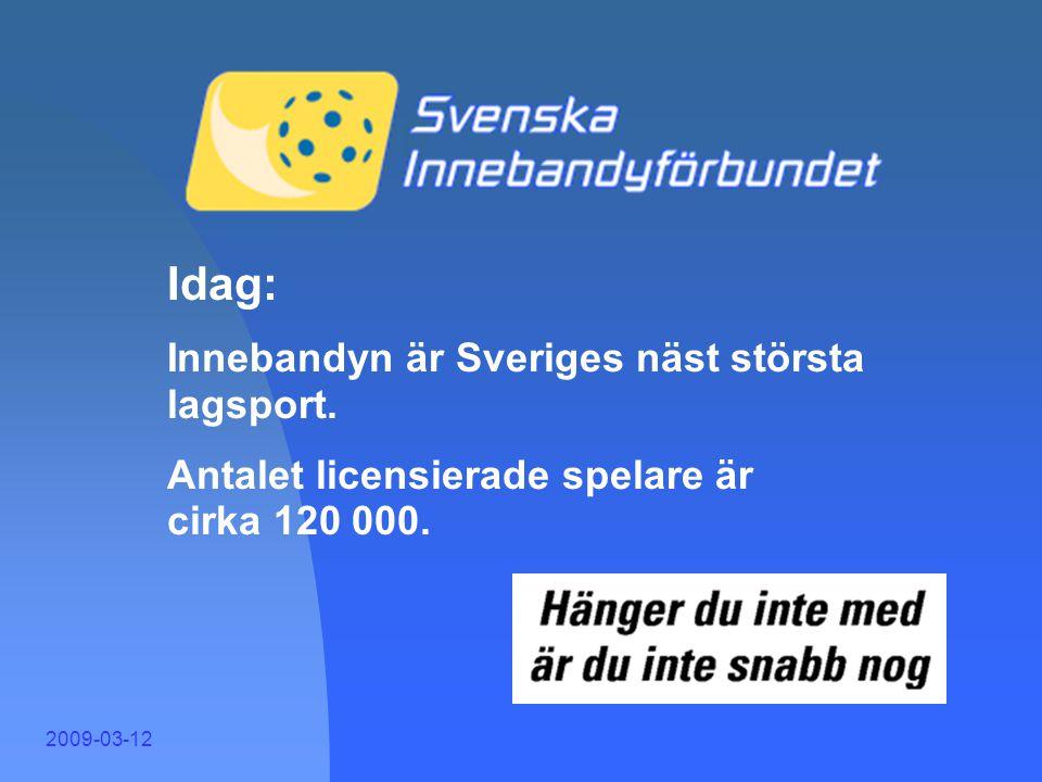 """2009-03-12 """"Innebandyn är verkligen en sport på frammarsch i Sverige. Det är ett faktum. För visst finns det utrymme för denna sport i landet om man b"""