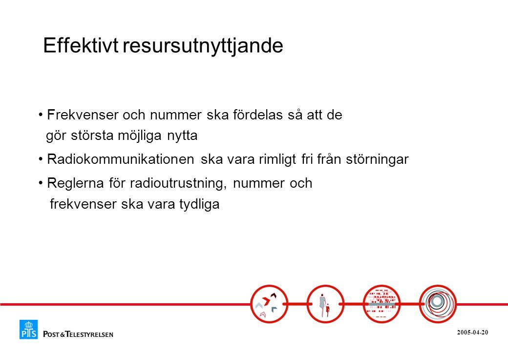 2005-04-20 Säker kommunikation • Alla ska ha tillgång till säker kommunikation • Integritetsskyddet ska vara högt • Sverige ska ha en robust infrastruktur för kommunikationstjänster och ett aktivt utbyte i IT-säkerhetsfrågor