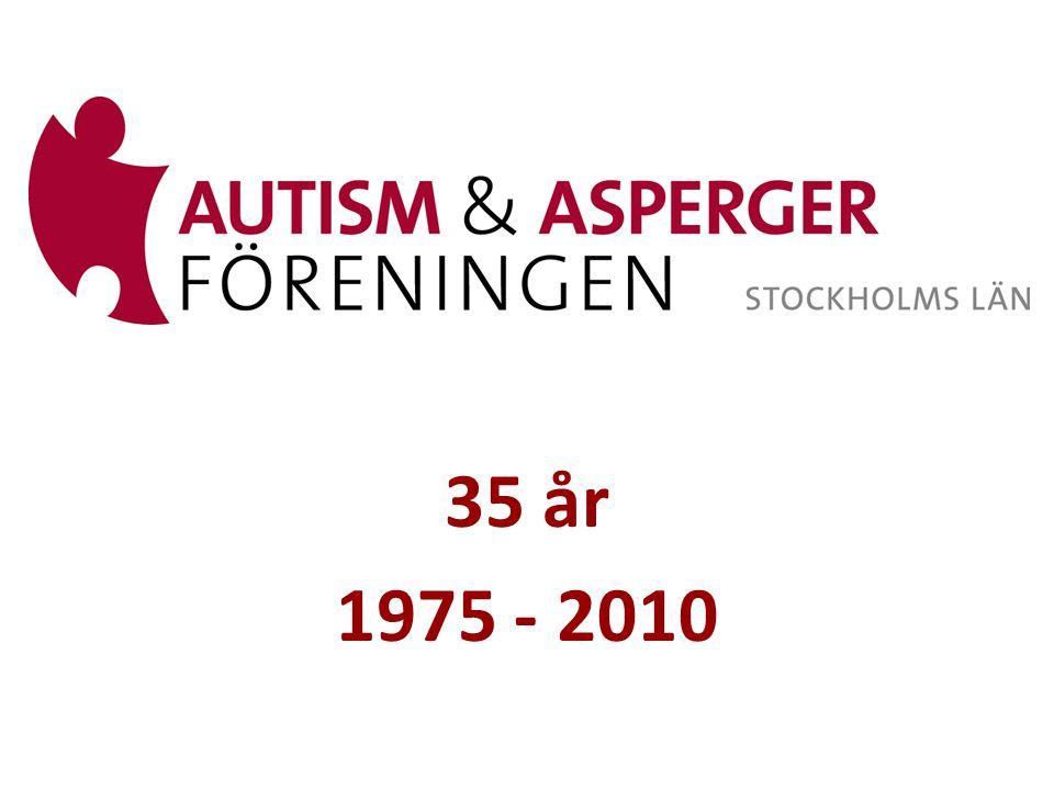 • 1975 Autism- och Aspergerföreningen bildades under namnet Stockholmskretsen av Föreningen för psykotiska barn .