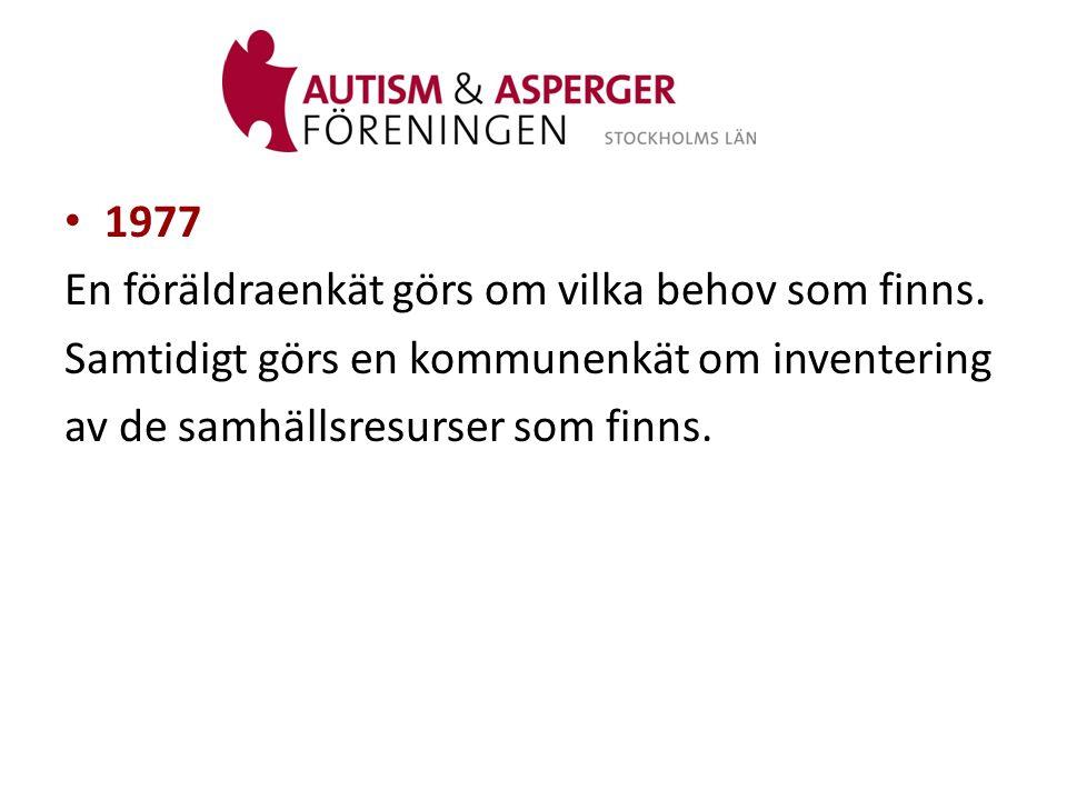 • 1993 Så här vill vi ha det! – en idéskiss för resurscentrum/kunskapscentrum för barn med autism eller autismliknande tillstånd tas fram.