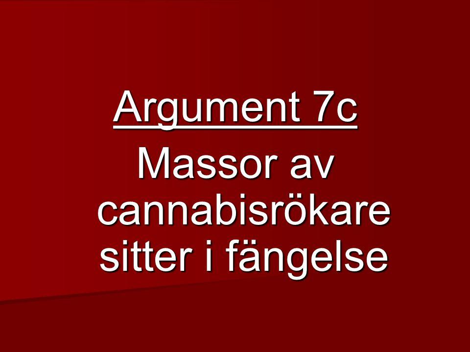 Argument 7c Massor av cannabisrökare sitter i fängelse
