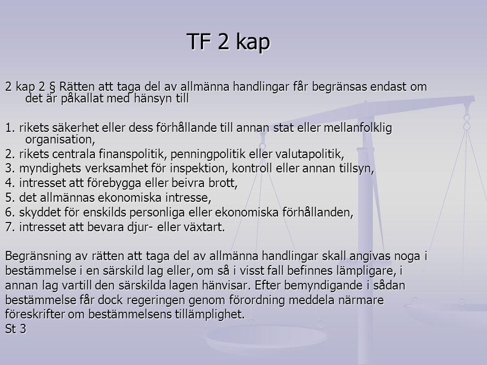 TF 2 kap 3 § Med handling förstås framställning i skrift eller bild samt upptagning som kan läsas, avlyssnas eller på annat sätt uppfattas endast med tekniskt hjälpmedel.