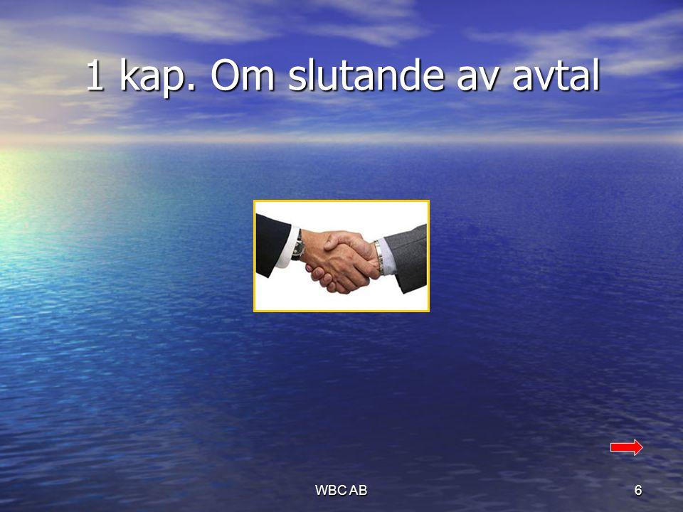1 kap. Om slutande av avtal 6WBC AB