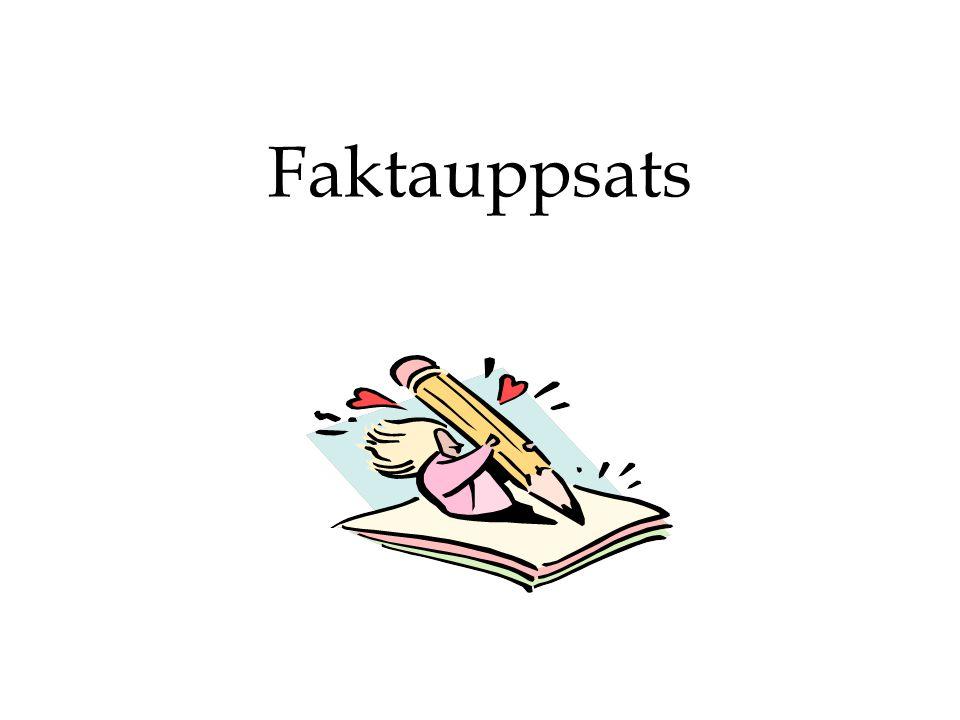 Skönlitteratur vs Facktext •Ofta är en text indelad i enheter, delar, t ex kapitel.