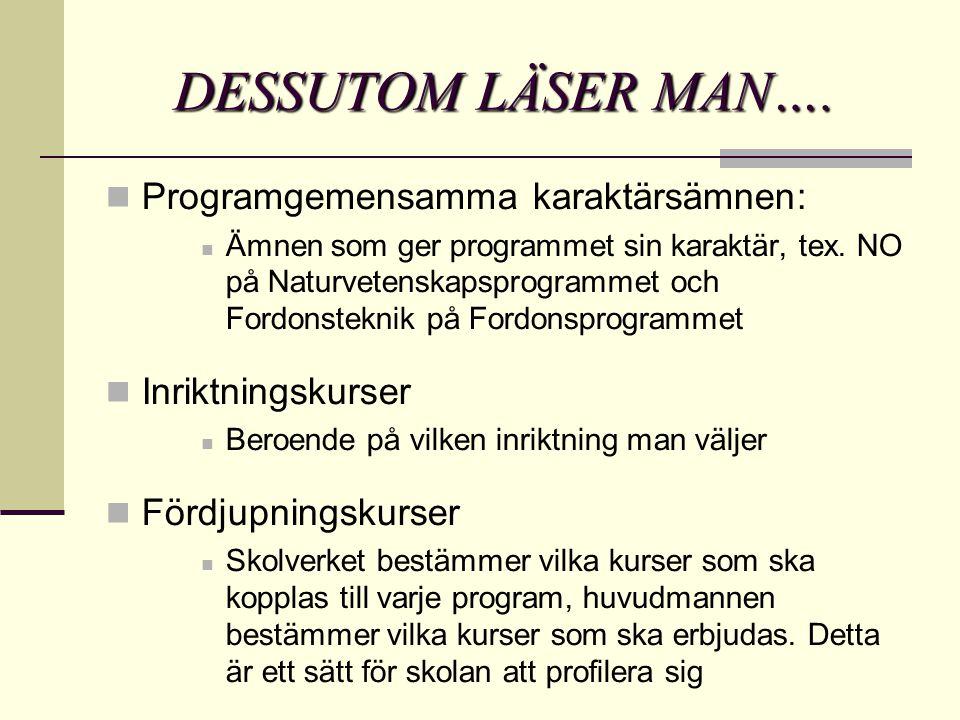 DESSUTOM LÄSER MAN….