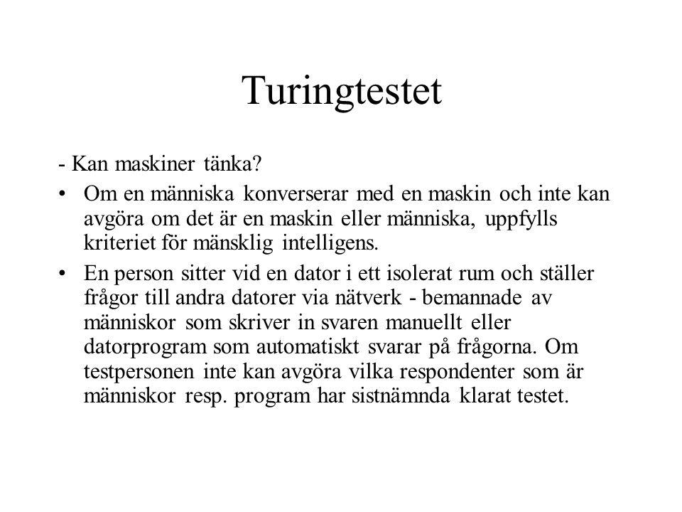 Turingtestet - Kan maskiner tänka.