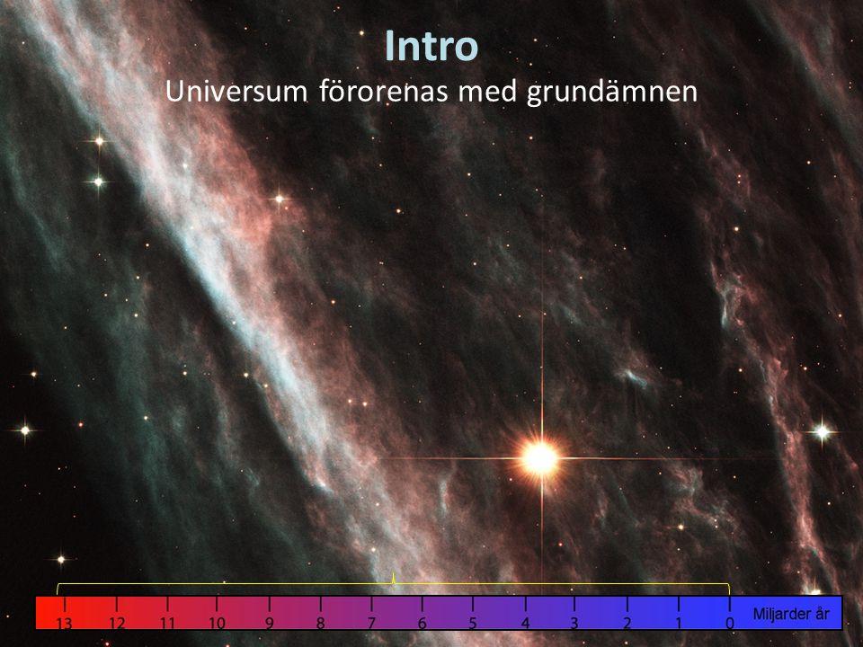 Intro Universum förorenas med grundämnen