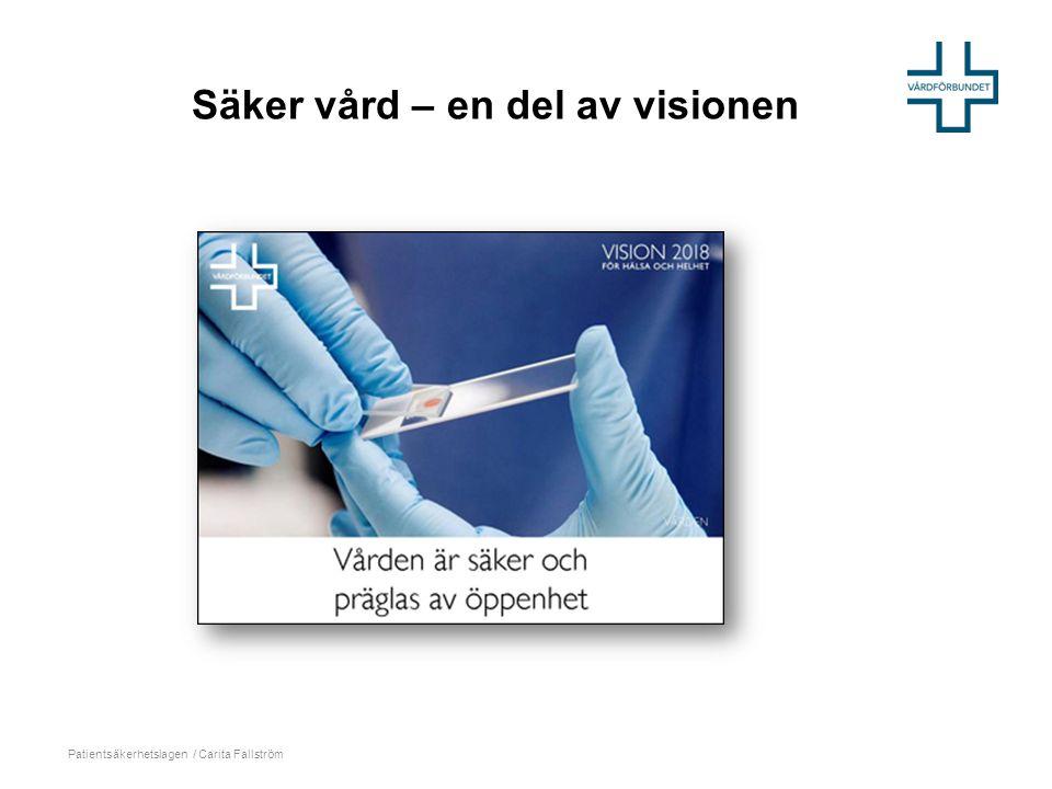 Säker vård – en del av visionen Patientsäkerhetslagen / Carita Fallström