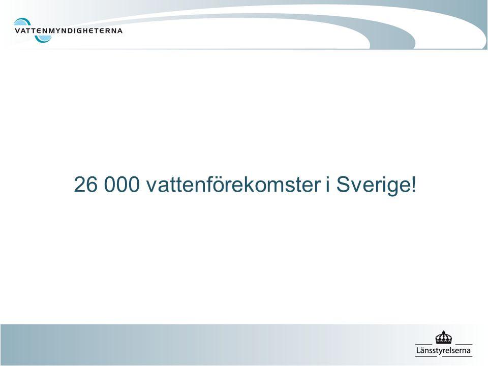 26 000 vattenförekomster i Sverige!