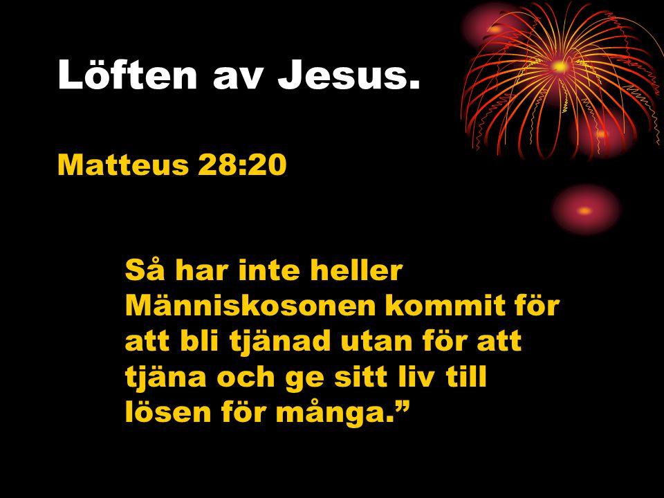 Löften av Jesus.
