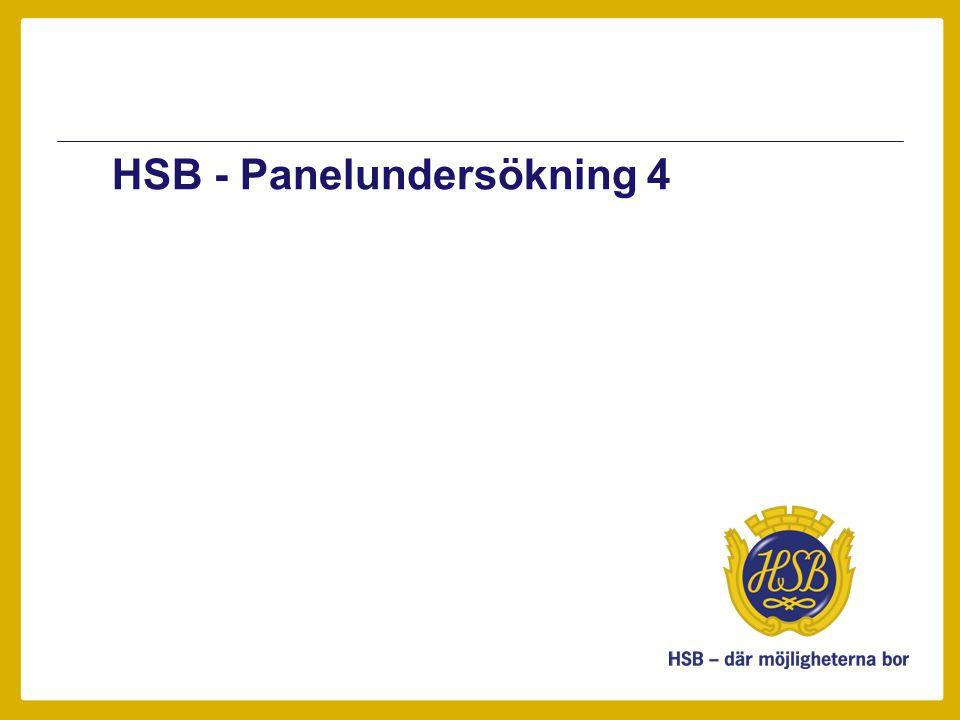 Sammanfattning •HSB har startat en webbpanel genom vilken HSB önskar kartlägga medlemmars och förtroendevaldas åsikter kring aktuella frågor.