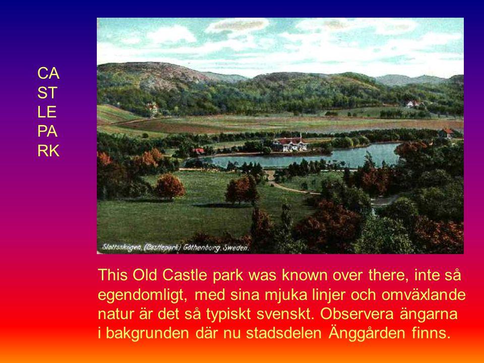CA ST LE PA RK This Old Castle park was known over there, inte så egendomligt, med sina mjuka linjer och omväxlande natur är det så typiskt svenskt.