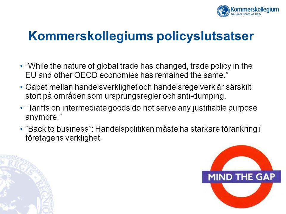 Policyoptioner för EU post-Doha •Doharundan fortfarande first best policy .