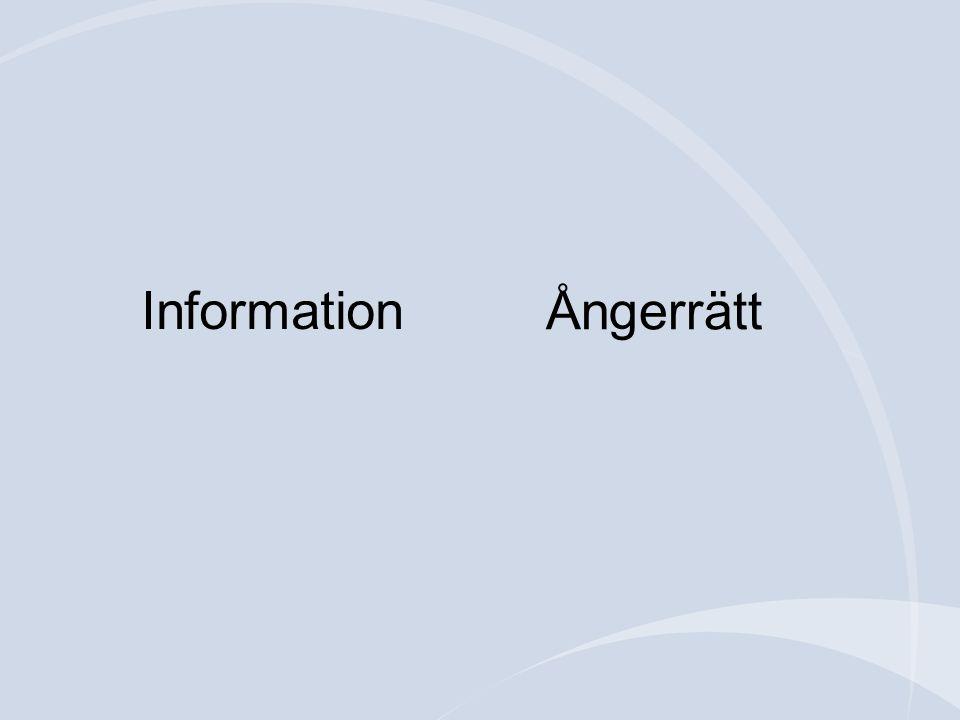 Information Ångerrätt