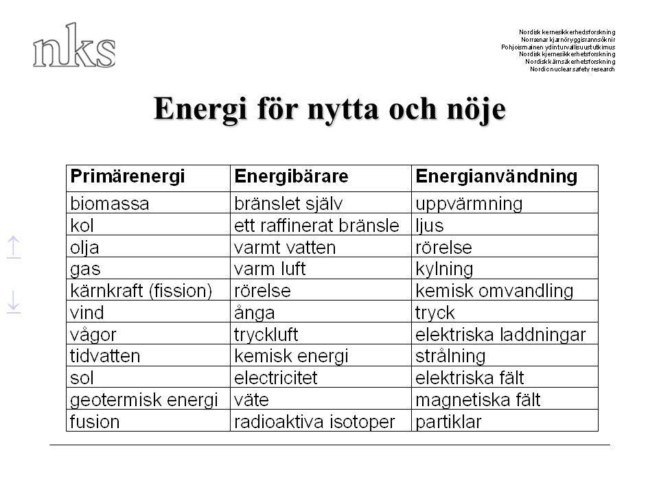 Energi för nytta och nöje  