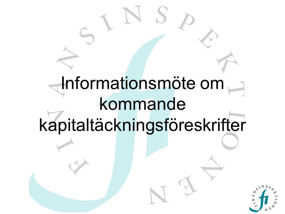 Agenda  Föreskriftsarbetet  Föreskrifterna –operativa risker –Intern riskklassificering (IRK)  Prövningsprocessen