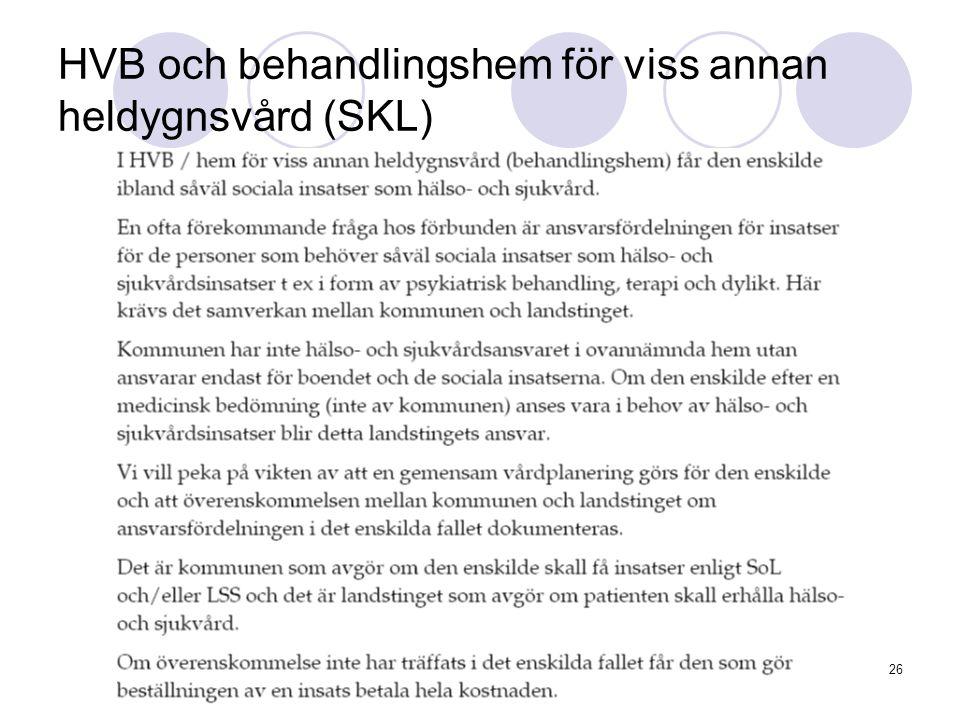 www.kommunlex.se26 HVB och behandlingshem för viss annan heldygnsvård (SKL)