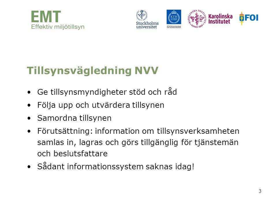 3 Tillsynsvägledning NVV •Ge tillsynsmyndigheter stöd och råd •Följa upp och utvärdera tillsynen •Samordna tillsynen •Förutsättning: information om ti