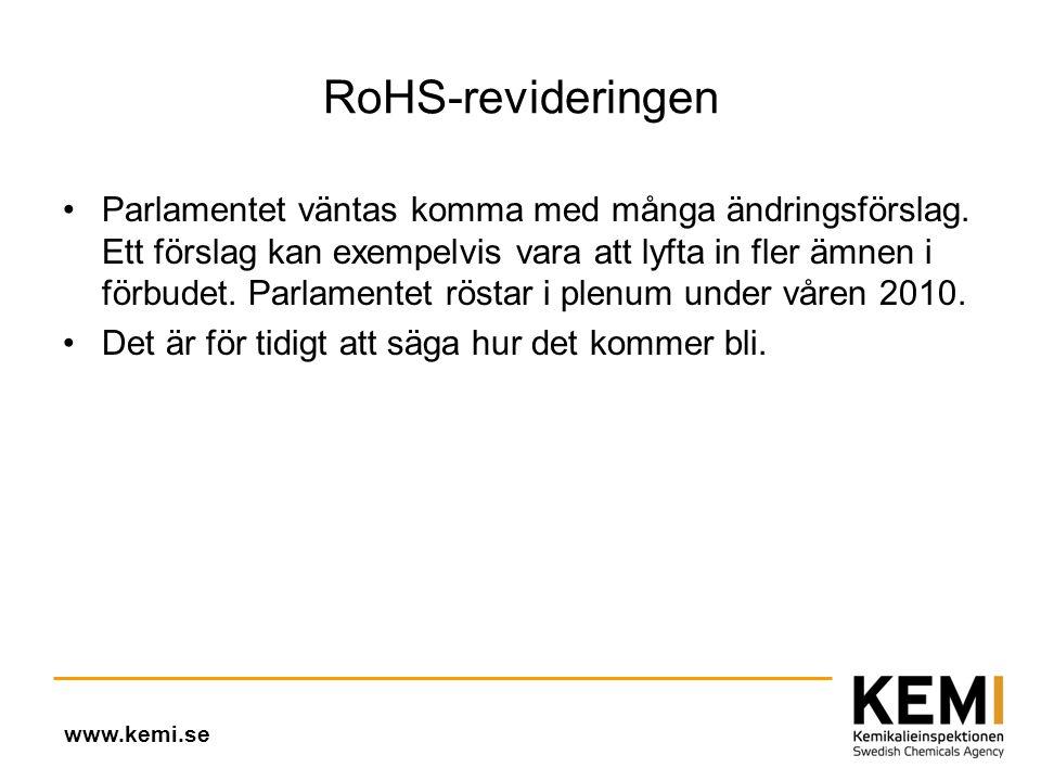 RoHS-revideringen •Parlamentet väntas komma med många ändringsförslag.