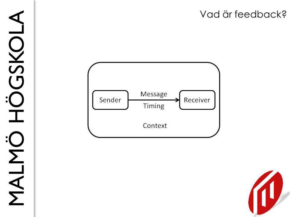 MALMÖ HÖGSKOLA Forskning om feedback 1 T.ex.Ball et al.
