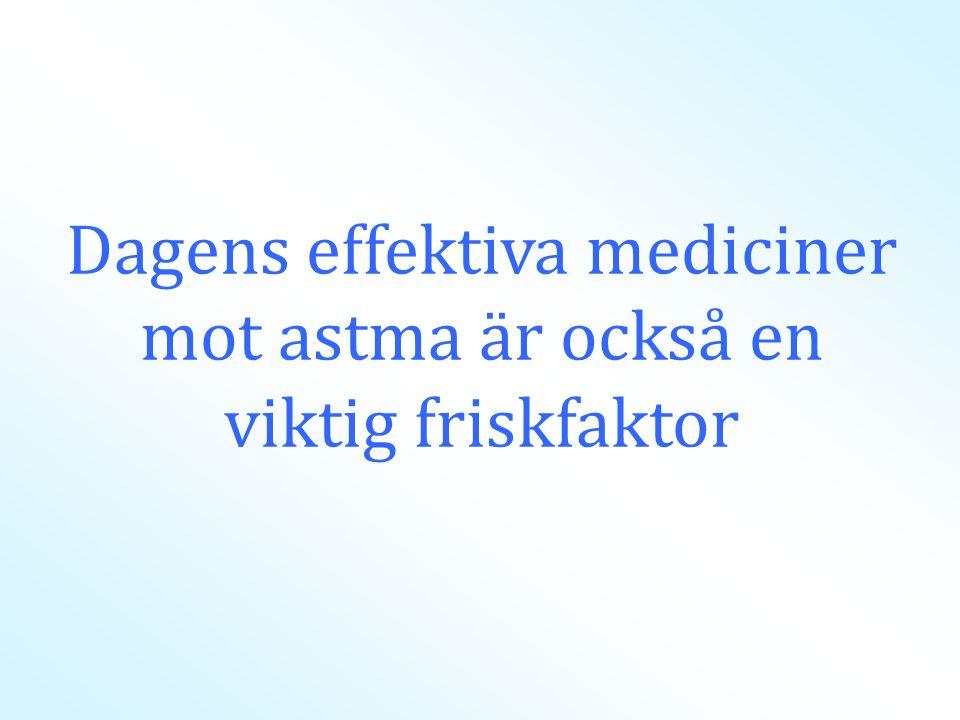 Dagens effektiva mediciner mot astma är också en viktig friskfaktor