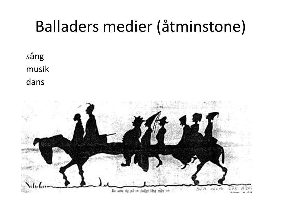 Balladers medier (åtminstone) sång musik dans