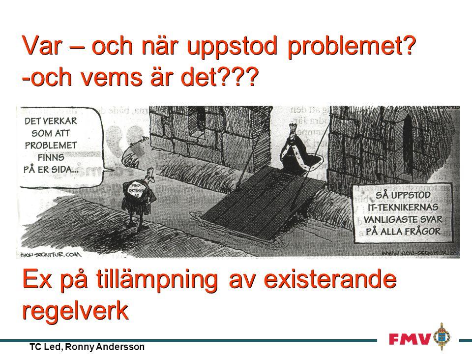 TC Led, Ronny Andersson Beslut ???? !!!! ???? En dag på luftvärnsregementet…..