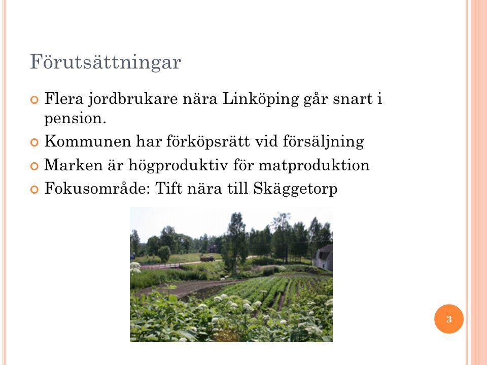 Förutsättningar Flera jordbrukare nära Linköping går snart i pension.
