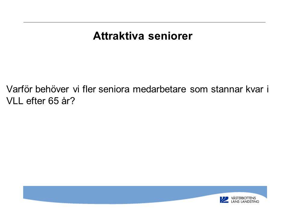 Attraktiva seniorer Varför behöver vi fler seniora medarbetare som stannar kvar i VLL efter 65 år?