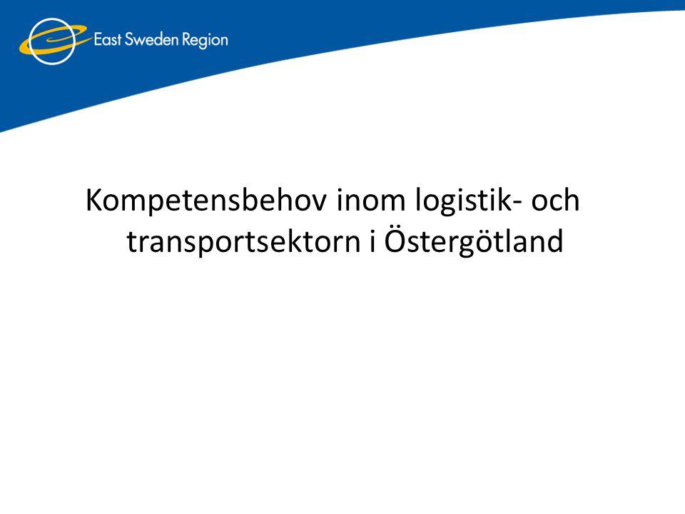 Antal sysselsatta inom transport och magasinering i Östergötland 4% (8233) av det totala antalet sysselsatta i länet (Ca 26% av de sysselsatta inom Transport och magasinering är över 55 år)
