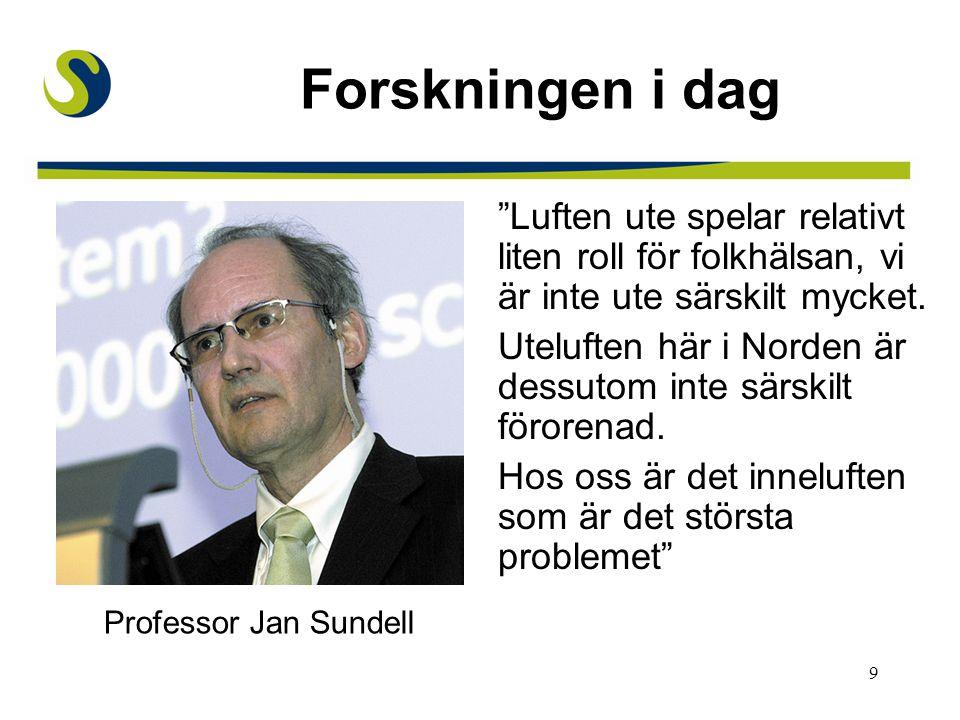 10 Forskningsresultat Värmlandsstudien (Sverige) Bamsestudien (Sverige) Massachusettsstudien (USA) IEA (Europa) NatVent-projektet (Europa)